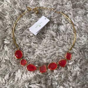 Kate Spade Vegas Jewels Cabernet Pink Necklace